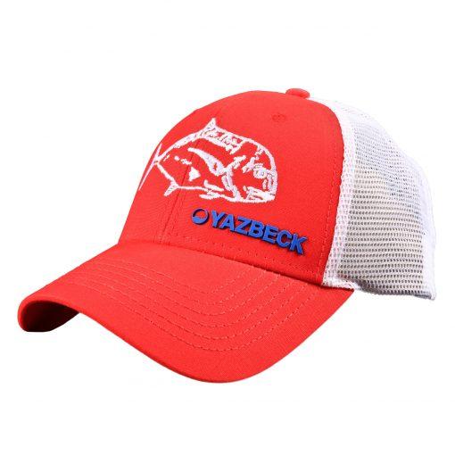 yazbeck-red-ulua-trucker-cap-side-design-Desmond-Thain